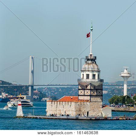 Maiden's Tower (Leander's Tower - Kiz Kulesi) Istanbul Turkey