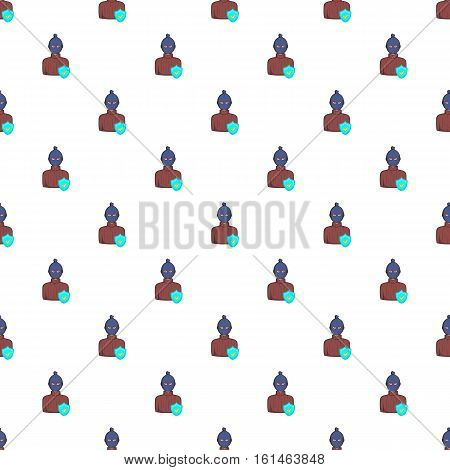 Robbery insurance pattern. Cartoon illustration of robbery insurance vector pattern for web
