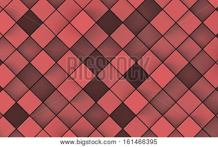 Abstract image of cubes background in red toned.