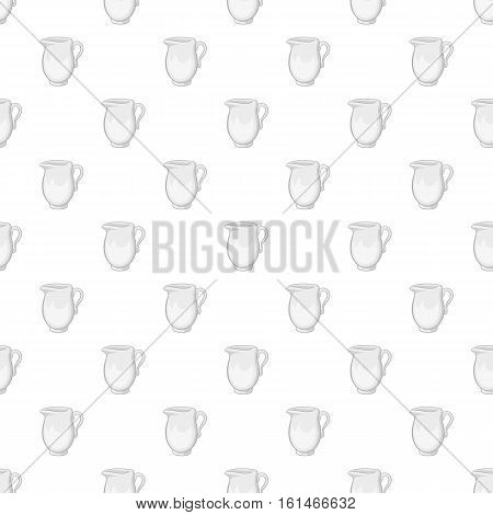 Glass jug pattern. Cartoon illustration of glass jug vector pattern for web