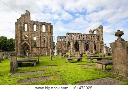Elgin Cathedral in the north east of Scotland is a majestic ruin