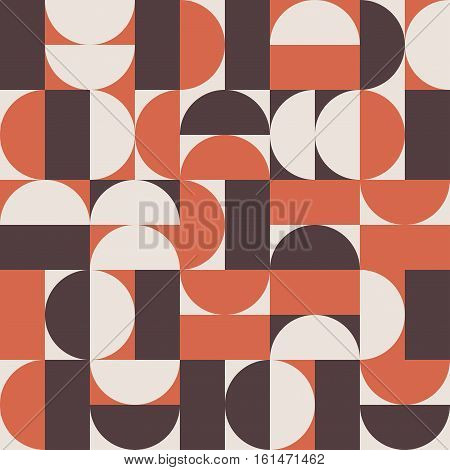Vector seamless background pattern in retro mid century style