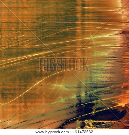 Retro texture used as abstract grunge background. Shabby backdrop with different color patterns: yellow (beige); brown; gray; red (orange); purple (violet); cyan