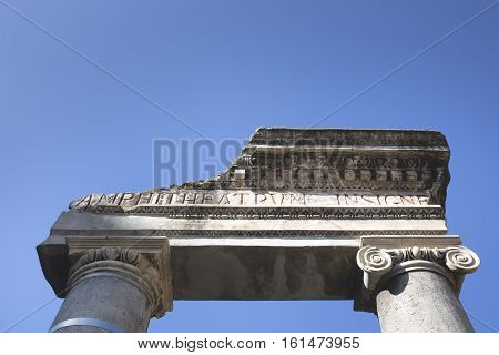 Detail Of The Main Entrance Of The Amphitheatre Of Catania