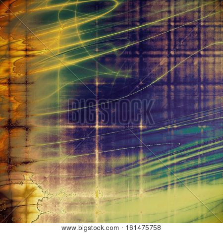 Vintage design background - Grungy style ancient texture with different color patterns: yellow (beige); green; blue; red (orange); purple (violet)
