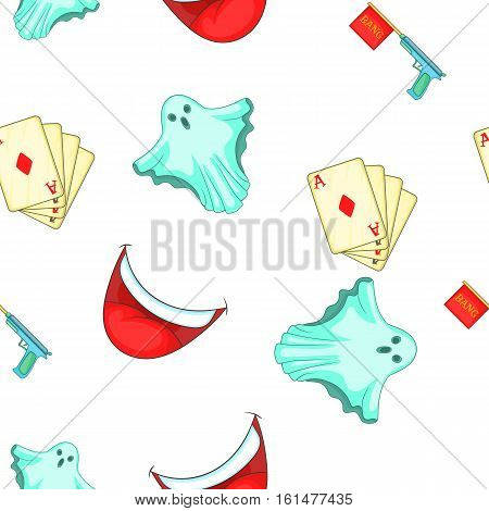 Fun and jokes pattern. Cartoon illustration of fun and jokes vector pattern for web
