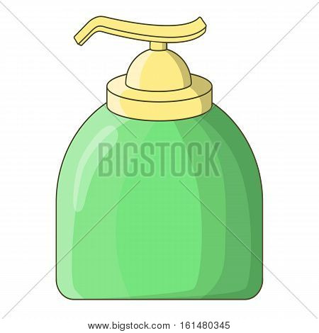Liquid soap icon. Cartoon illustration of liquid soap vector icon for web design