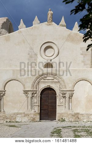 Ruins On An Old Church In Siracusa