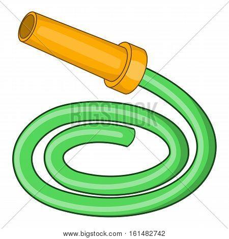 Garden hose icon. Cartoon illustration of garden hose vector icon for web design
