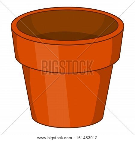 Flower pot icon. Cartoon illustration of flower pot vector icon for web design