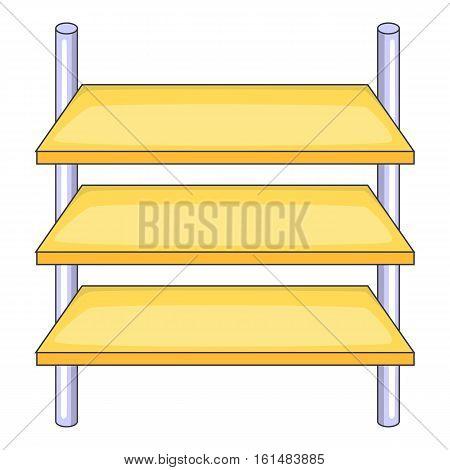 Shop shelves icon. Cartoon illustration of shop shelves vector icon for web design