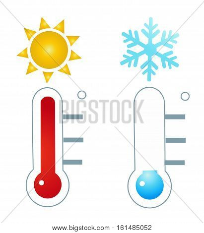 thermometer icon vector illustration on white background