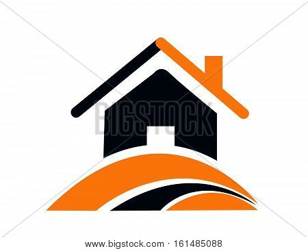 House vector icon on white background vector