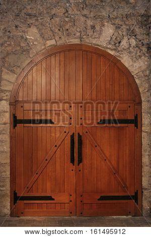 Old wooden doors to basement