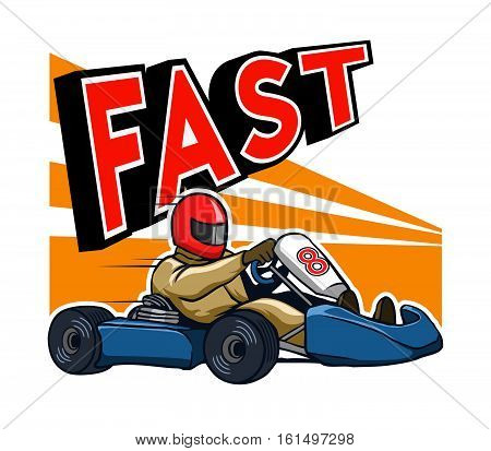 Vector illustration for go kart race theme