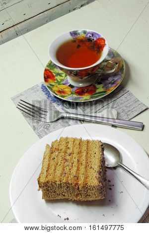 Cake And Tea