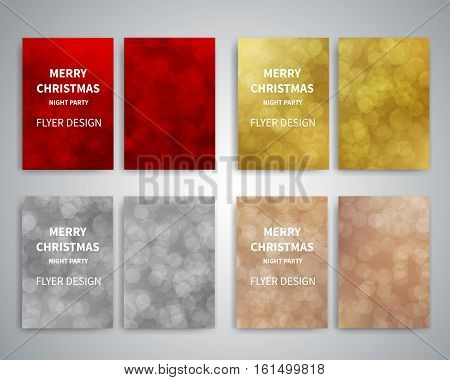 Christmas flyer vector photo free trial bigstock christmas flyer design templates set of a4 brochure flyer design templates with bokeh lights background stopboris Images
