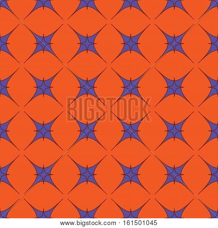 Star geometric seamless pattern. Fashion graphic background design. Modern stylish abstract texture. Color template for prints textiles wrapping wallpaper website. Stock VECTOR illustration