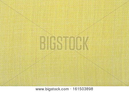 Yellow natural cotton as background texture close up