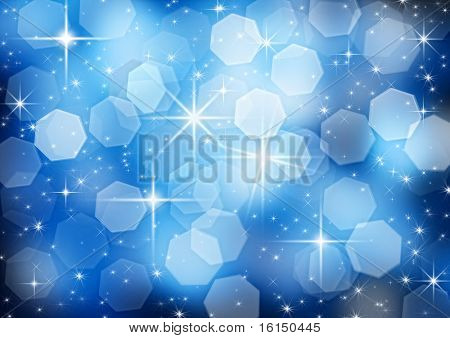 shooting star on a dark blue background