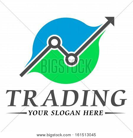 Trading logo template design vector eps 10