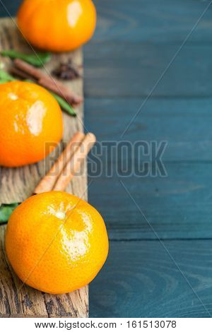 Dietary fiber from Mandarin orange with scent on wooden