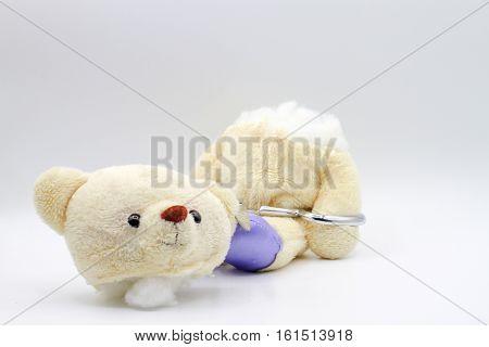bear headless The murder of self-harm concept