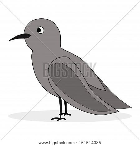 Simple cartoon nightingale. Bird florence nightingale vector illustration