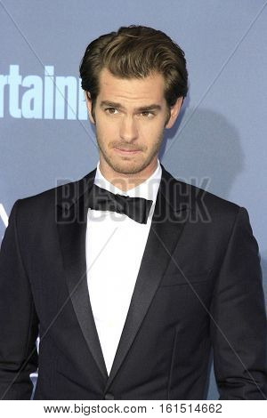 SANTA MONICA - DEC 11: Andrew Garfield at The 22nd Annual Critics' Choice Awards at Barker Hangar on December 11, 2016 in Santa Monica, California