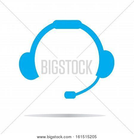 headset icon on white background. headset symbol.
