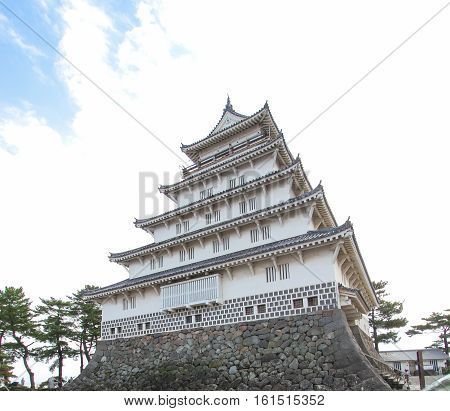 shimabara Castle also known as Moritake Castle and Takaki Castle is a Japanese castle located in Shimabara Hizen Province. This five-story white building stands in stark contrast to the black Kumamoto Castle in neighboring Kumamoto Prefecture. JAPAN