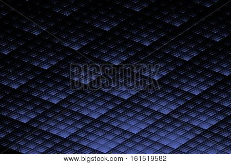 Abstract black blue texture reminiscent solar panels