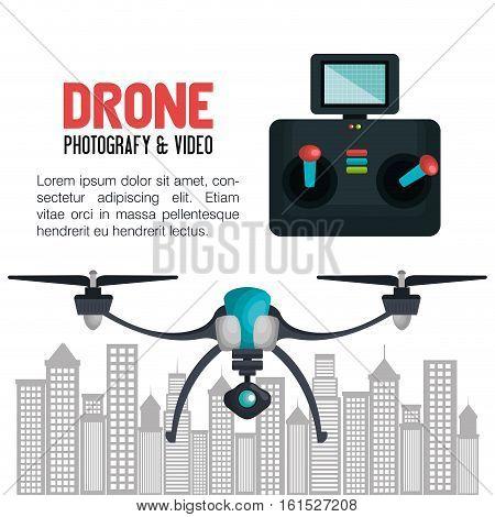 drone technology service icon vector illustration design
