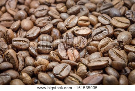 Selective Focus and Close Up / Coffee Beans in Roaster Machine, Beverage image