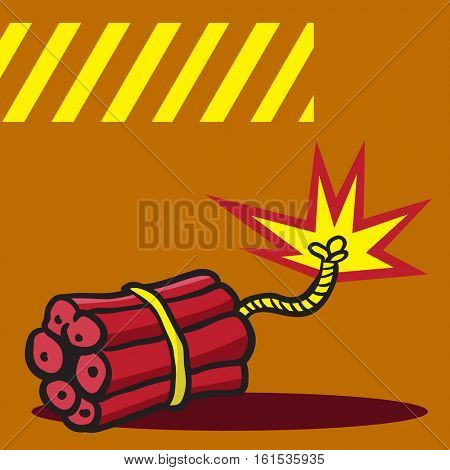 dynamite bomb cartoon illustration