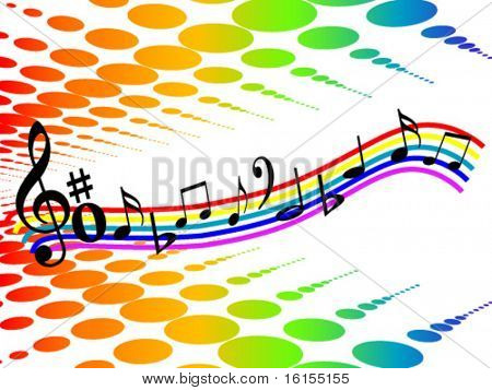 Colour design element music - vector illustration