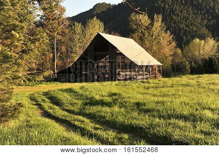 This is a photo of a barn.
