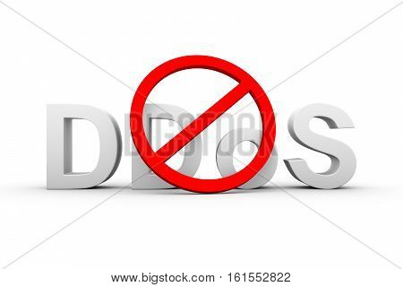 protection from network attack white background  3d illustration