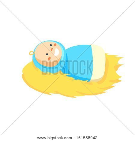 jesus baby manger character vector illustraion isolated on white background.