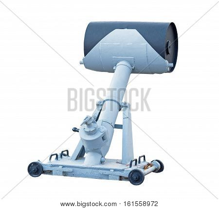 Russian antisubmarine projectile on a white background