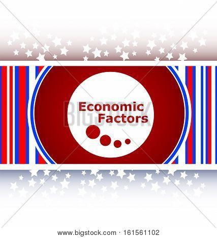 flat and white economic factors web button icon