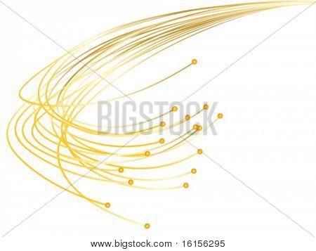 Optic fibres vector illustration