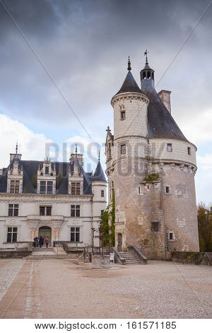 Tower Of Chateau De Chenonceau, France