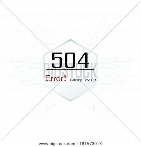 Vectors Abstract background 504 connection error gateway time out