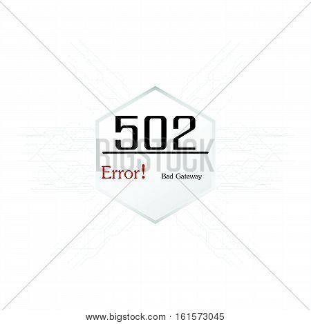 Vectors Abstract background 502 connection error Bad Gateway