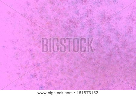 Abstract pink floral fractal rectangular background usable for business card