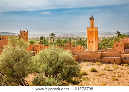 Mosque With Stork Nest In Ouarzazate, Morocco