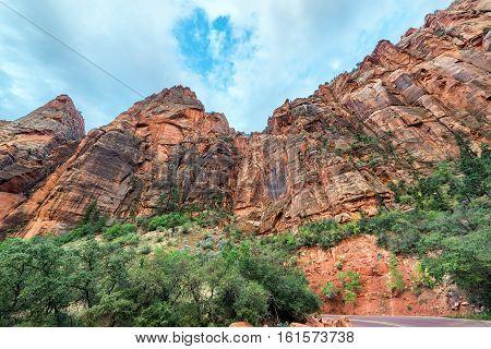 Cliffs In Zion National Park