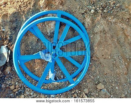 New Valve Wheel For 500 Mm Valve. Industrial Valve Wheel Ready For Assambly