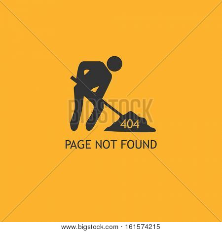 404 error page illustration on a yellow background